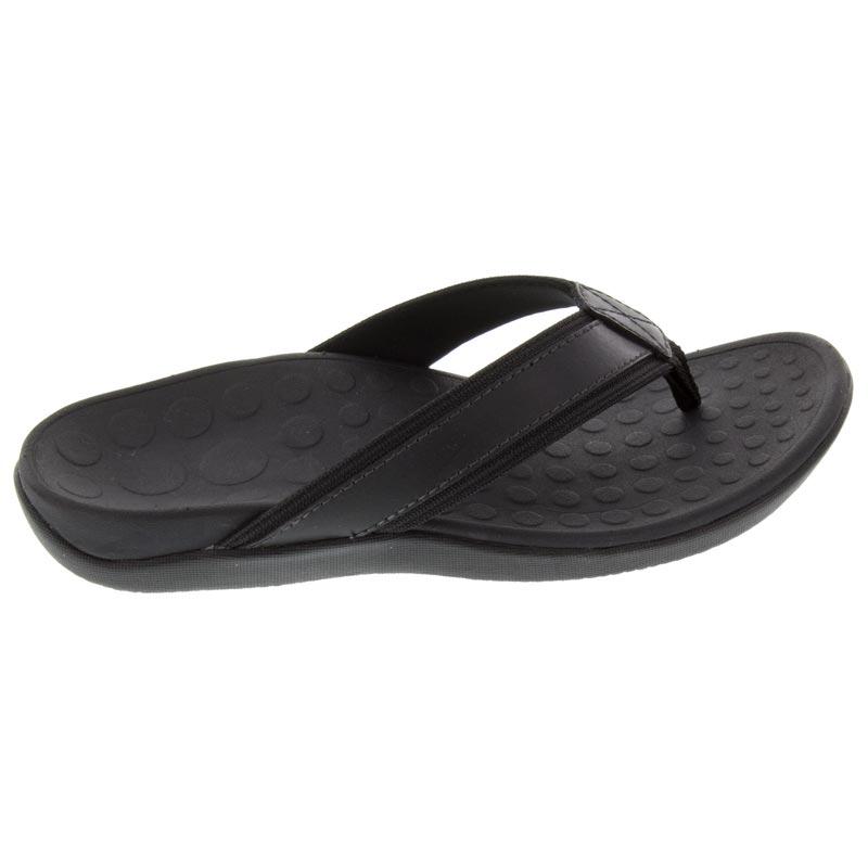 Vionic Tide (Men's) Black Leather 12 M