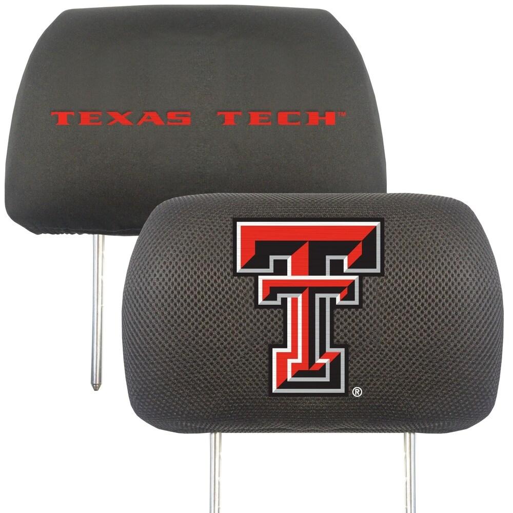 Texas Tech University Slip on Universal Head Rest Covers - Set of 2