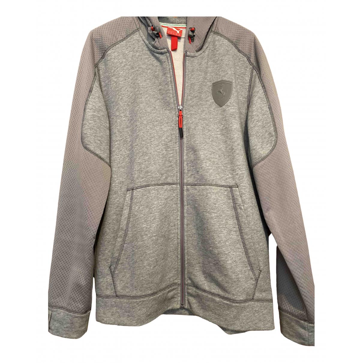Puma N Grey Cotton Knitwear & Sweatshirts for Men M International