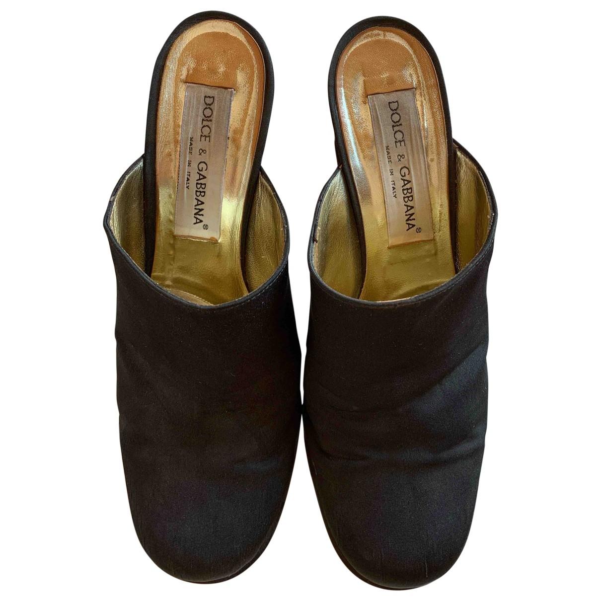 Dolce & Gabbana \N Clogs in  Schwarz Leinen