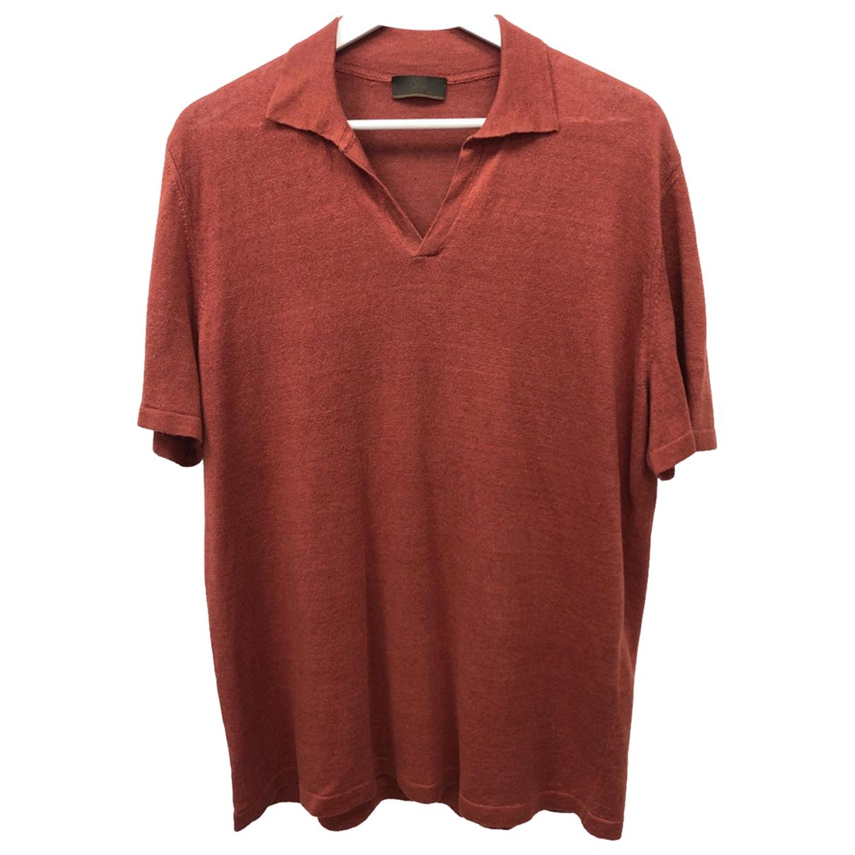 Altea - Polos   pour homme en lin - rouge