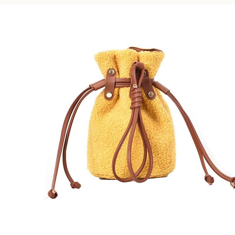 Ericdress Plain Barrel-Shaped Crossbody Bags