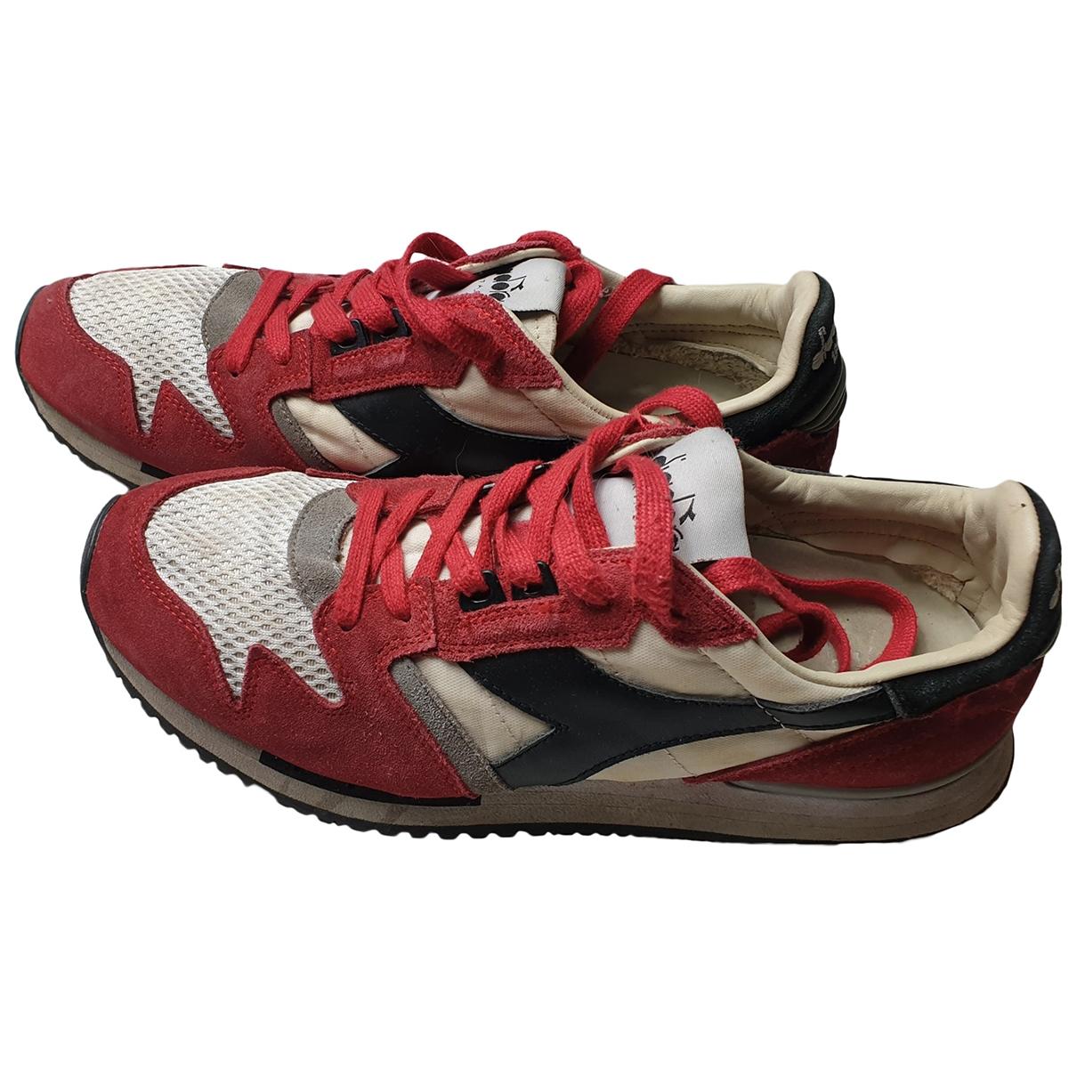 Diadora Heritage \N Sneakers in  Rot Leinen