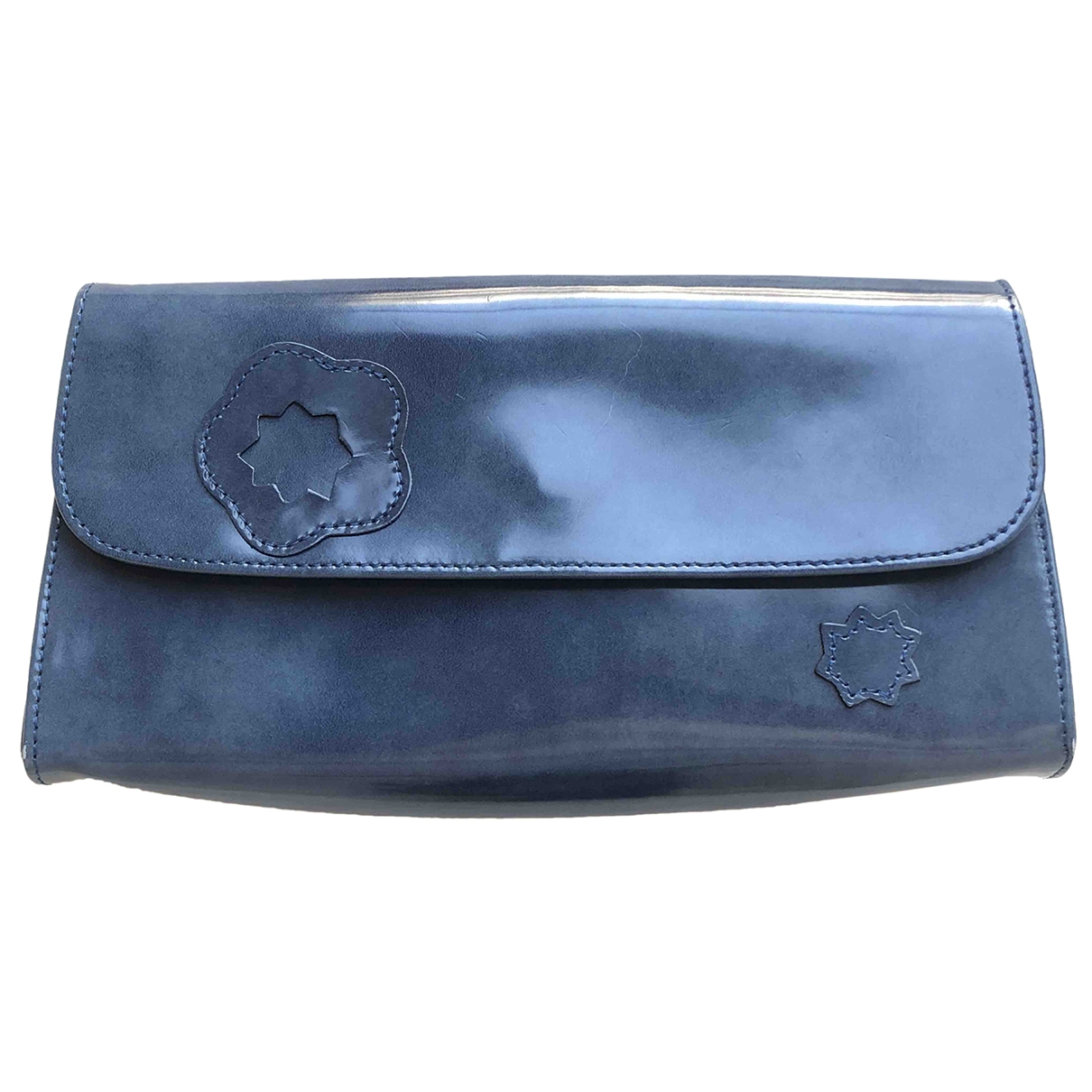 Longchamp \N Metallic Patent leather Clutch bag for Women \N