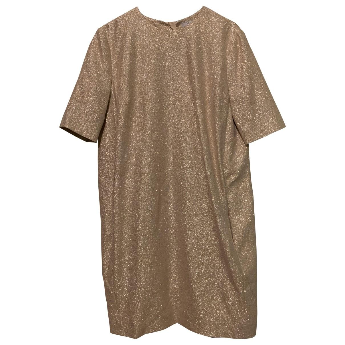 Lanvin \N Kleid in  Gold Seide