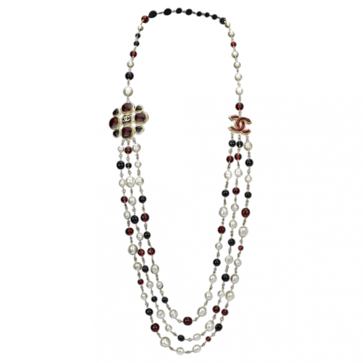 Chanel - Sautoir CC pour femme en perles - multicolore