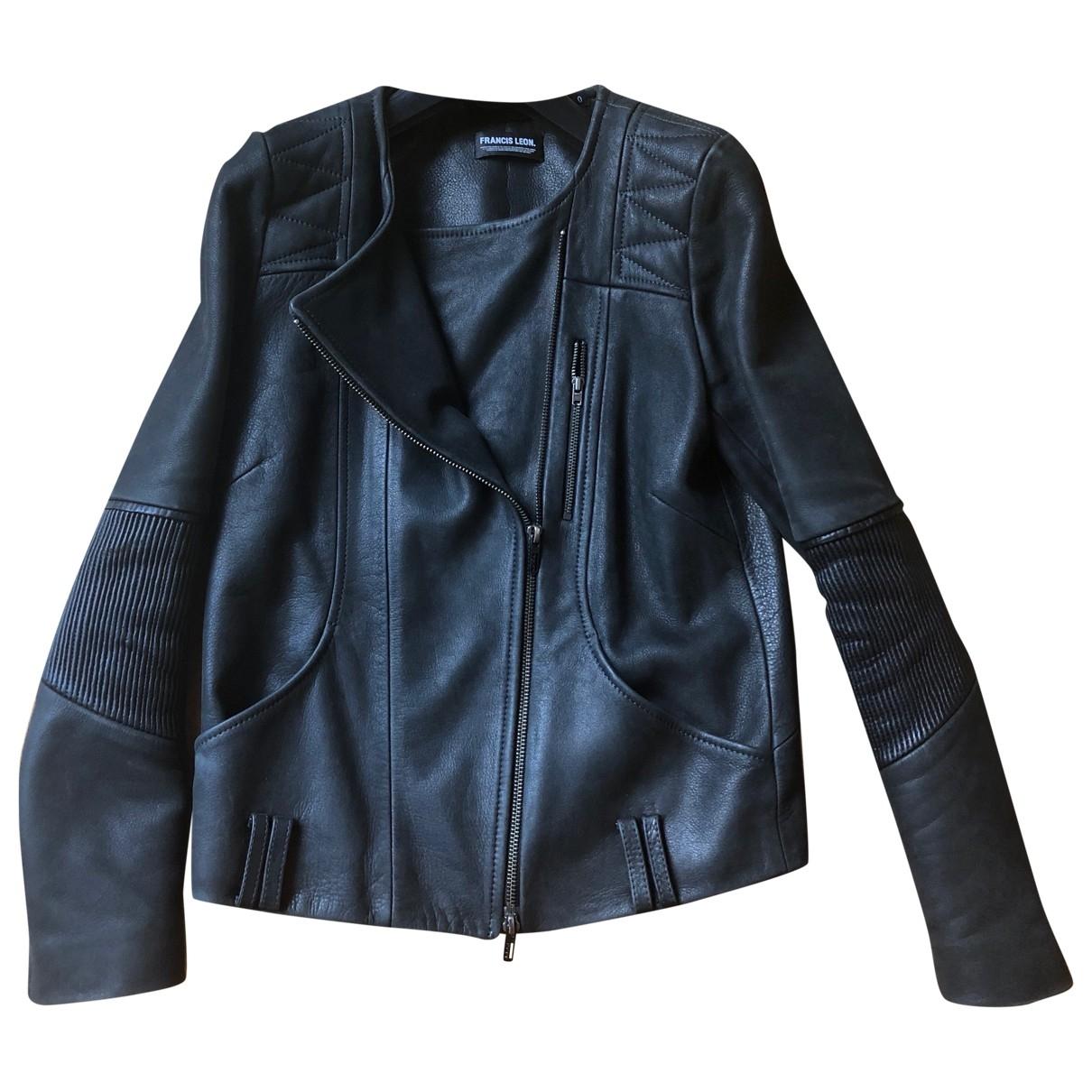 Francis Leon - Veste   pour femme en cuir - noir