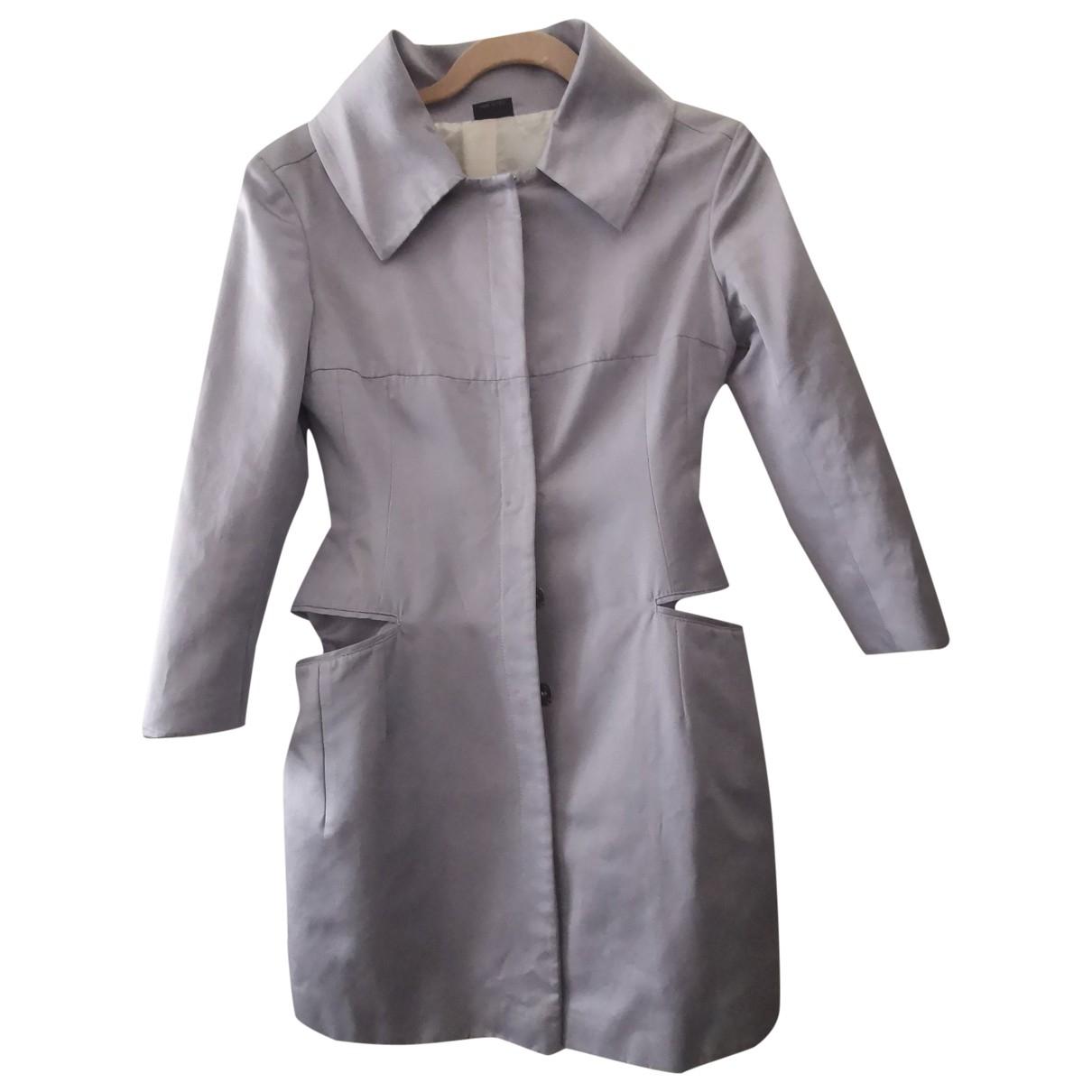 Alexander Mcqueen - Manteau   pour femme en soie - bleu