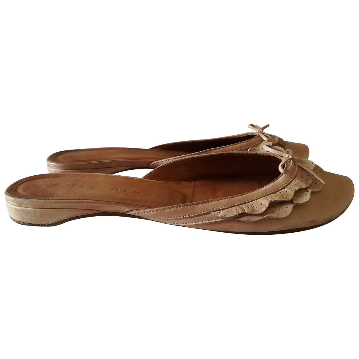 Chie Mihara \N Pink Leather Ballet flats for Women 37 IT