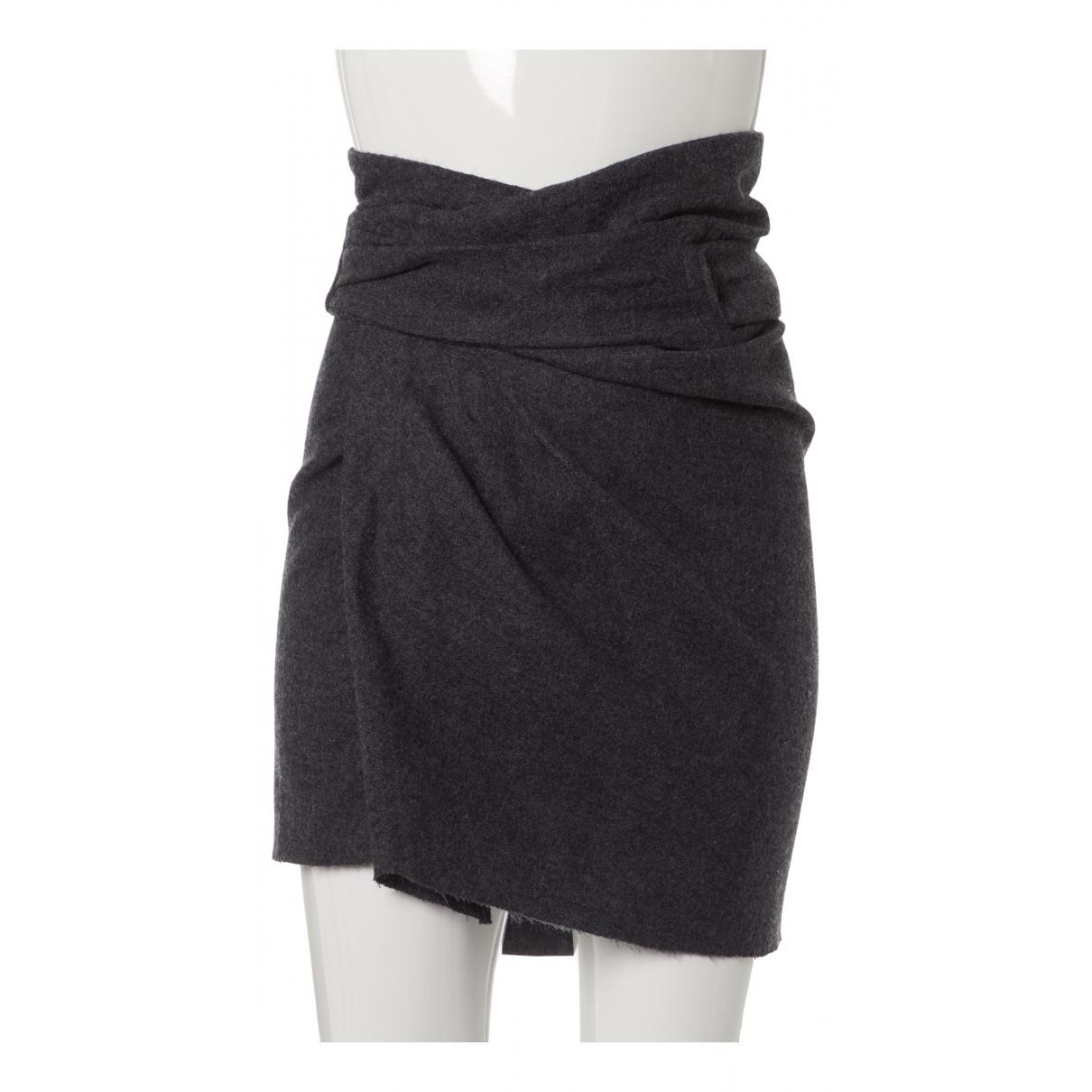 Isabel Marant - Jupe   pour femme en laine - gris