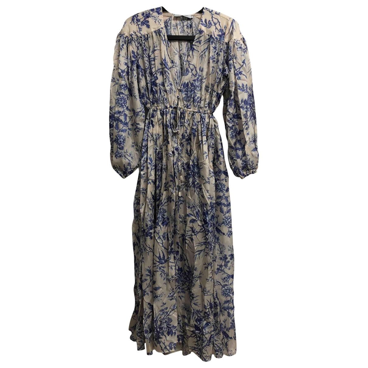 Zimmermann \N Kleid in  Blau Seide