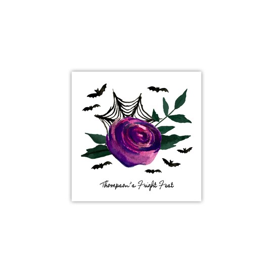 100 Pack of Gartner Studios® Personalized Floral Web Ink Only Halloween Cocktail Napkins | Michaels®