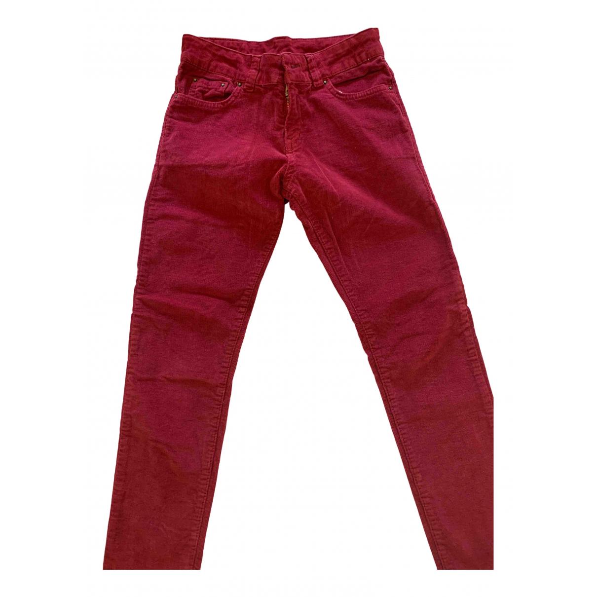 Bonnet A Pompon - Pantalon   pour enfant en coton - bordeaux