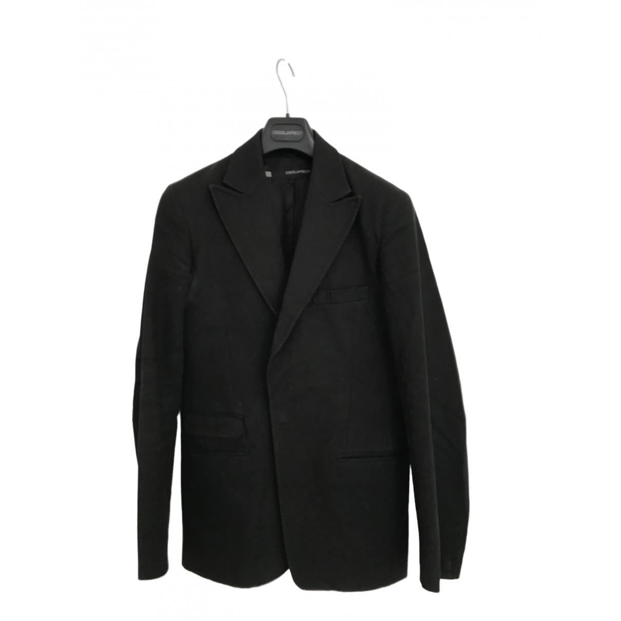 Dsquared2 \N Black Cotton jacket  for Men 48 IT