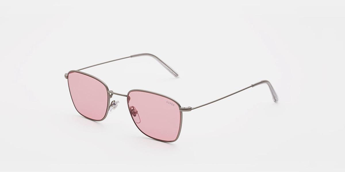 Retrosuperfuture Strand Pink INIT QQ5 Men's Sunglasses Silver Size 50