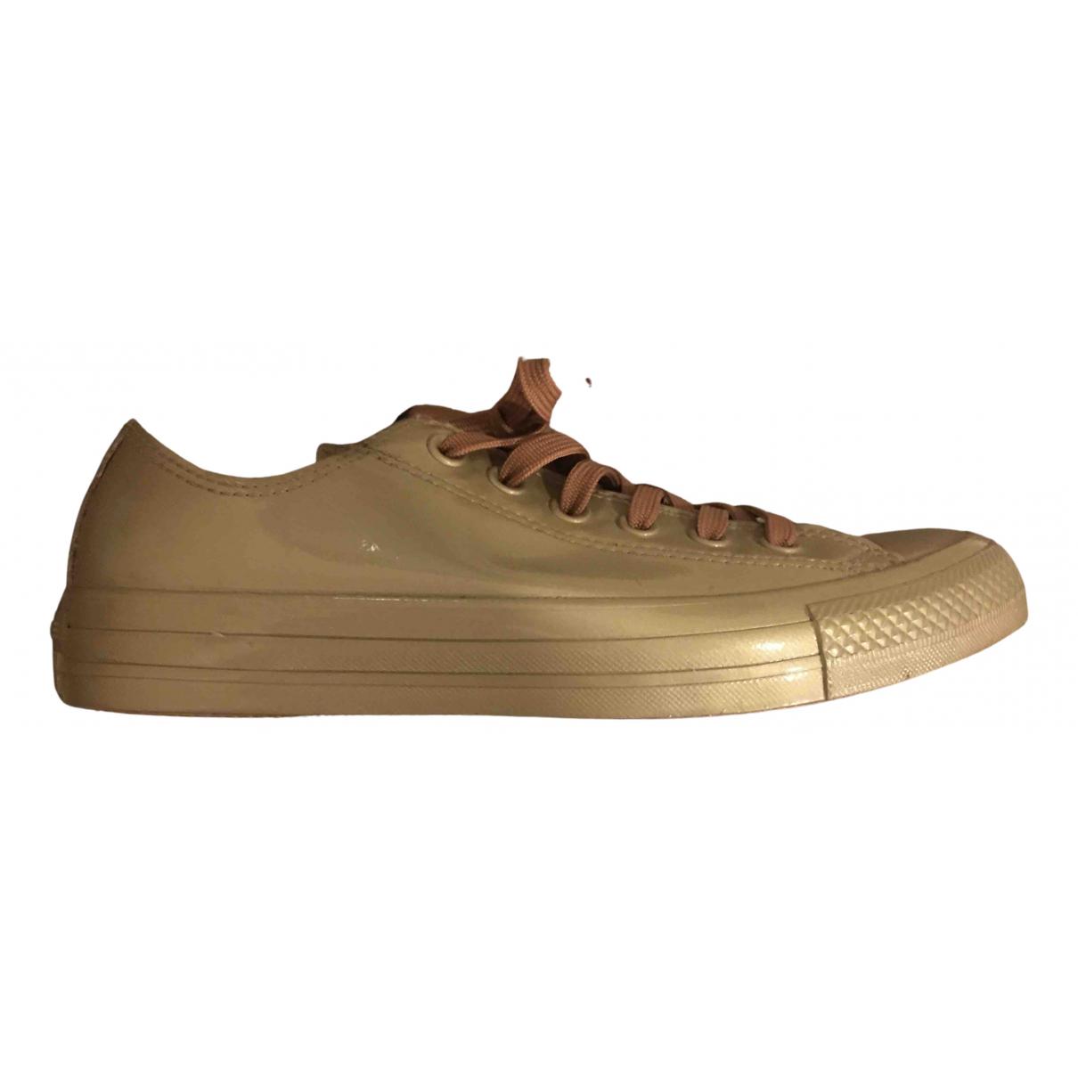 Converse \N Sneakers in  Metallic Kunststoff