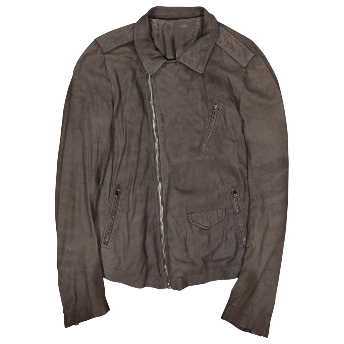 Rick Owens \N Brown Suede jacket  for Men 52 IT