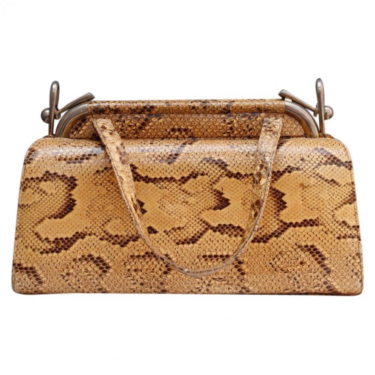 Non Signe / Unsigned \N Handtasche in  Braun Python