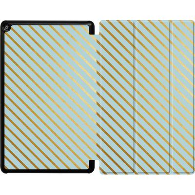 Amazon Fire HD 10 (2018) Tablet Smart Case - Gold Foil Stripe von Khristian Howell