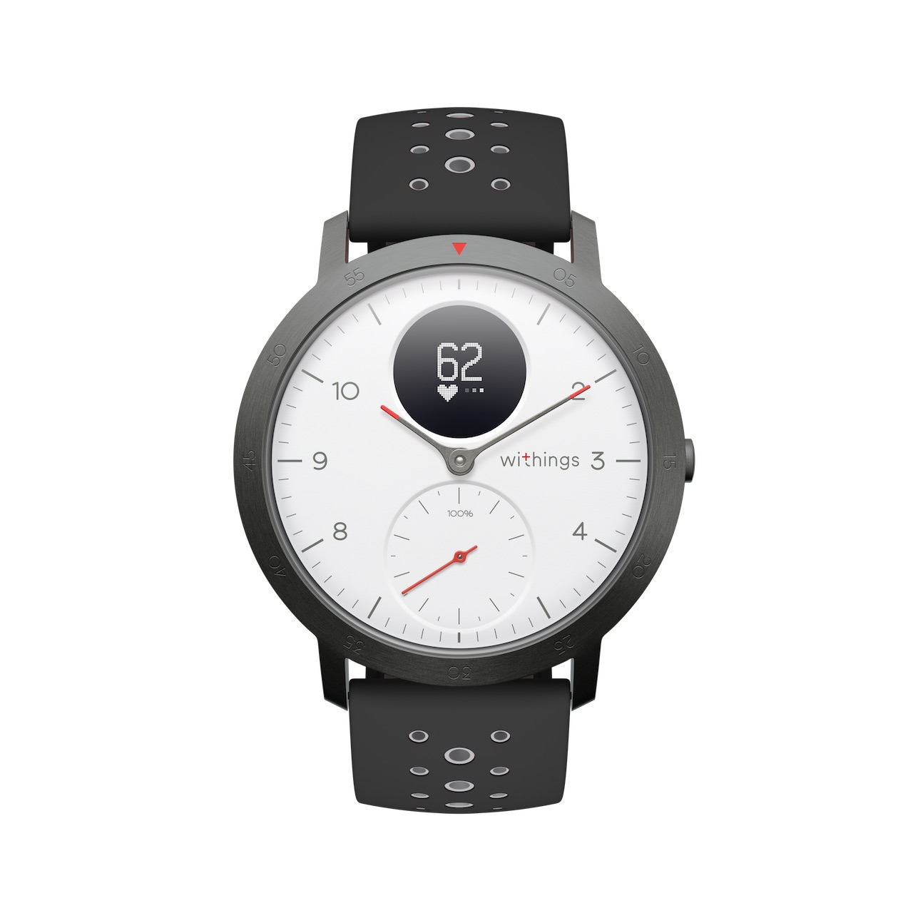 Withings Steel HR Sport, Blanc - Montre connectee hybride multisport - Rythme cardiaque, Notifications - Boutique Officielle Withings