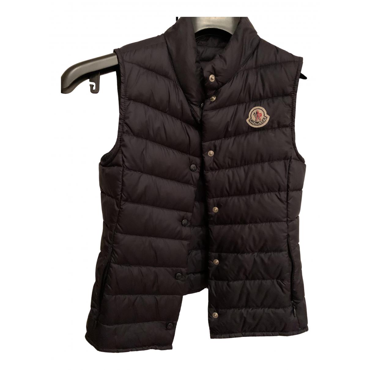 Moncler - Blousons.Manteaux Sleeveless pour enfant - marine