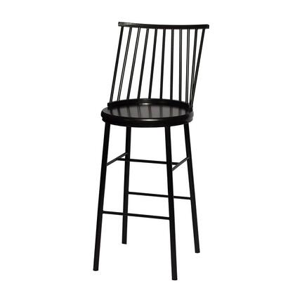 Frida Collection FI600BSB Bar Chair with Commercial Grade Metal  Scratch Resistant Electrostatic Finish and Nylon Floor Protectors in Black