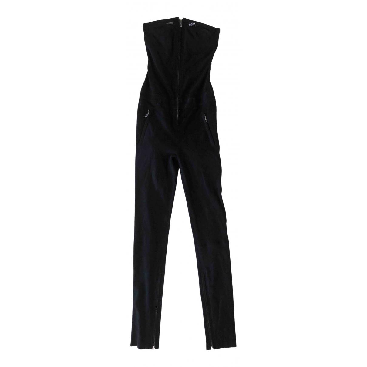 Haider Ackermann \N Black Suede jumpsuit for Women 36 FR