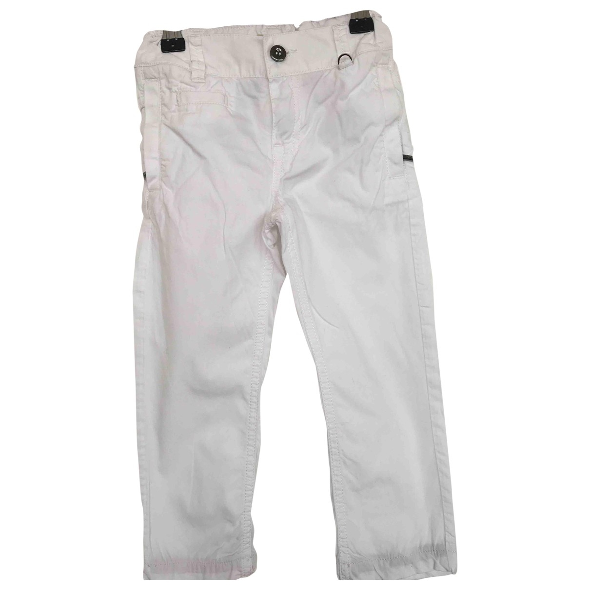 Burberry \N White Cotton Trousers for Kids 3 years - up to 98cm FR