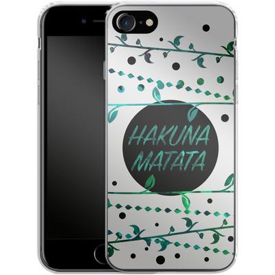 Apple iPhone 7 Silikon Handyhuelle - Hakuna Matata von Statements