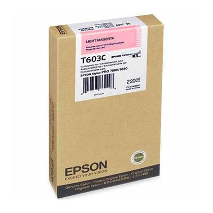 Epson T603C00 Original Light Magenta Ink Cartridge