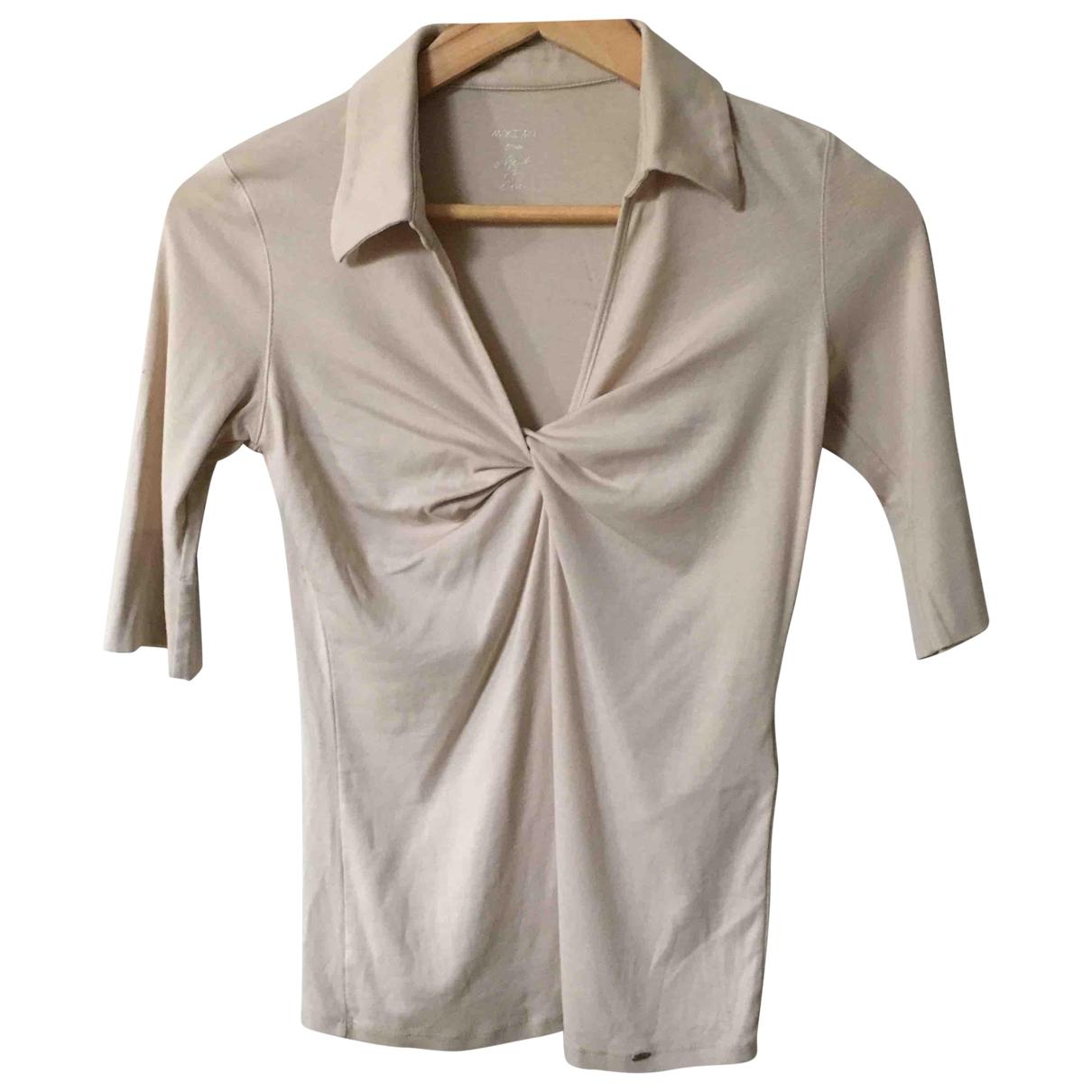 Marc Cain - Top   pour femme en coton - beige