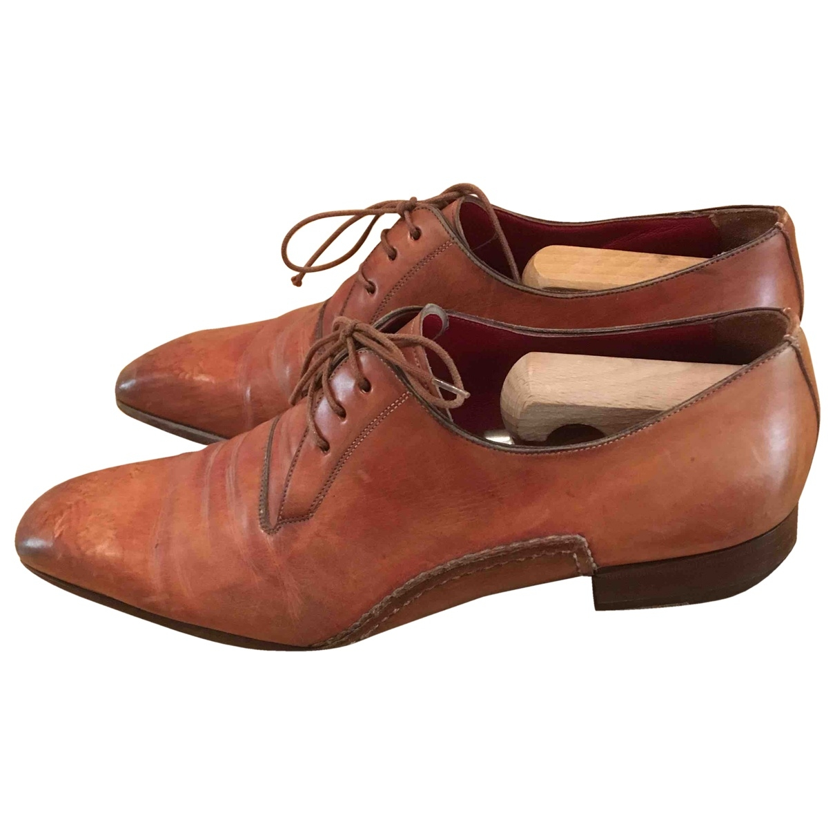 Santoni \N Brown Leather Lace ups for Men 8 UK