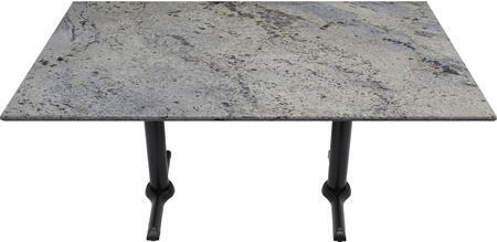 G208 30X48-B10-0522H 30x48 Kashmir White Granite Tabletop with 5