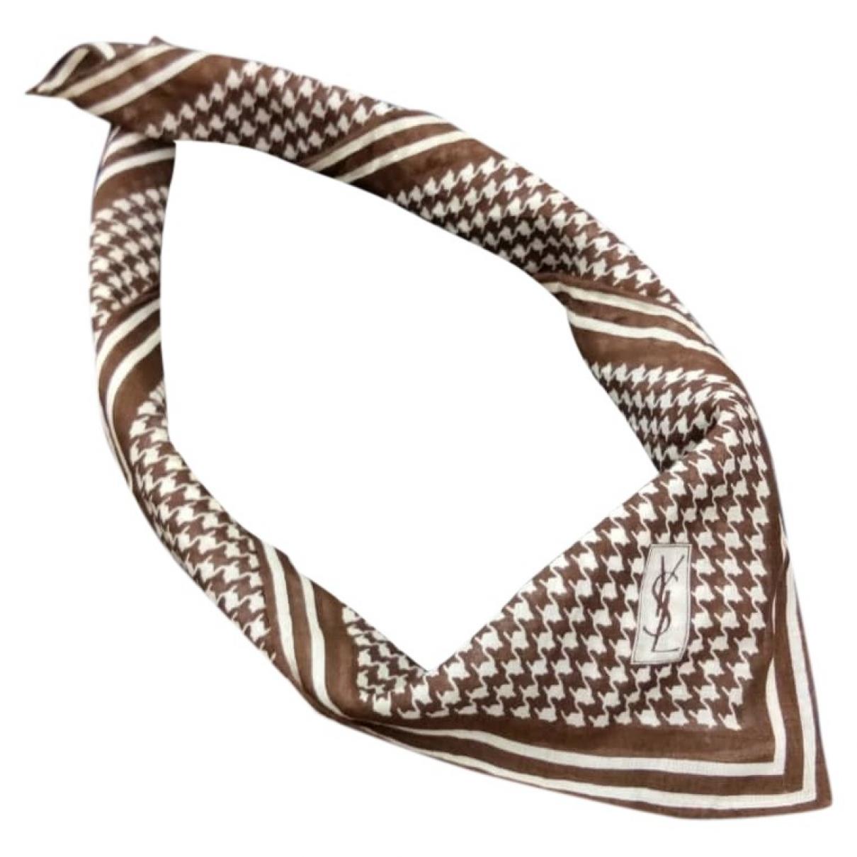 Yves Saint Laurent \N Brown scarf for Women \N