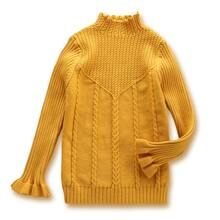 Toddler Girls High Neck Cable Knit Sweater