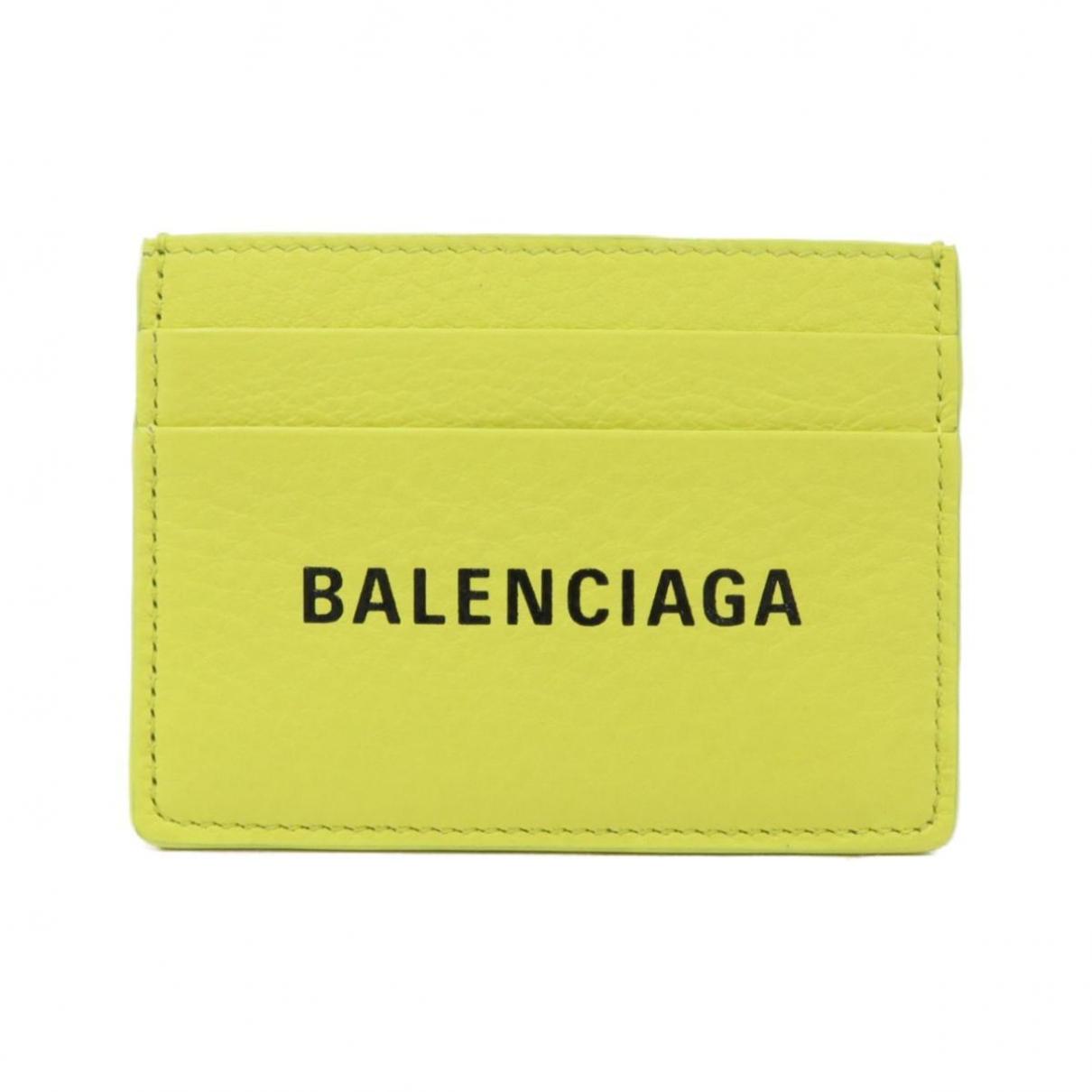 Balenciaga - Petite maroquinerie   pour femme en cuir - jaune