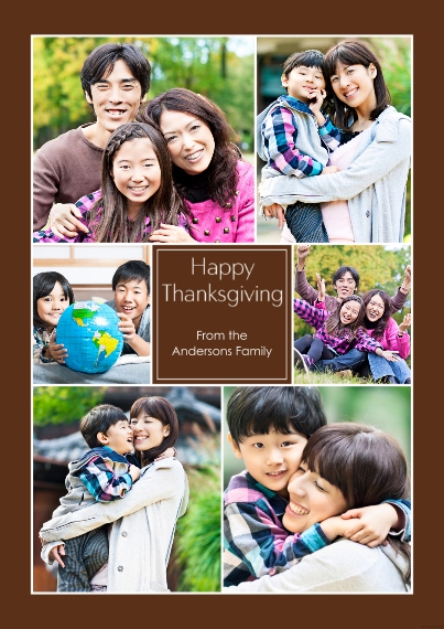 Thanksgiving Photo Cards 5x7 Cards, Premium Cardstock 120lb, Card & Stationery -Happy Thanksgiving Collage