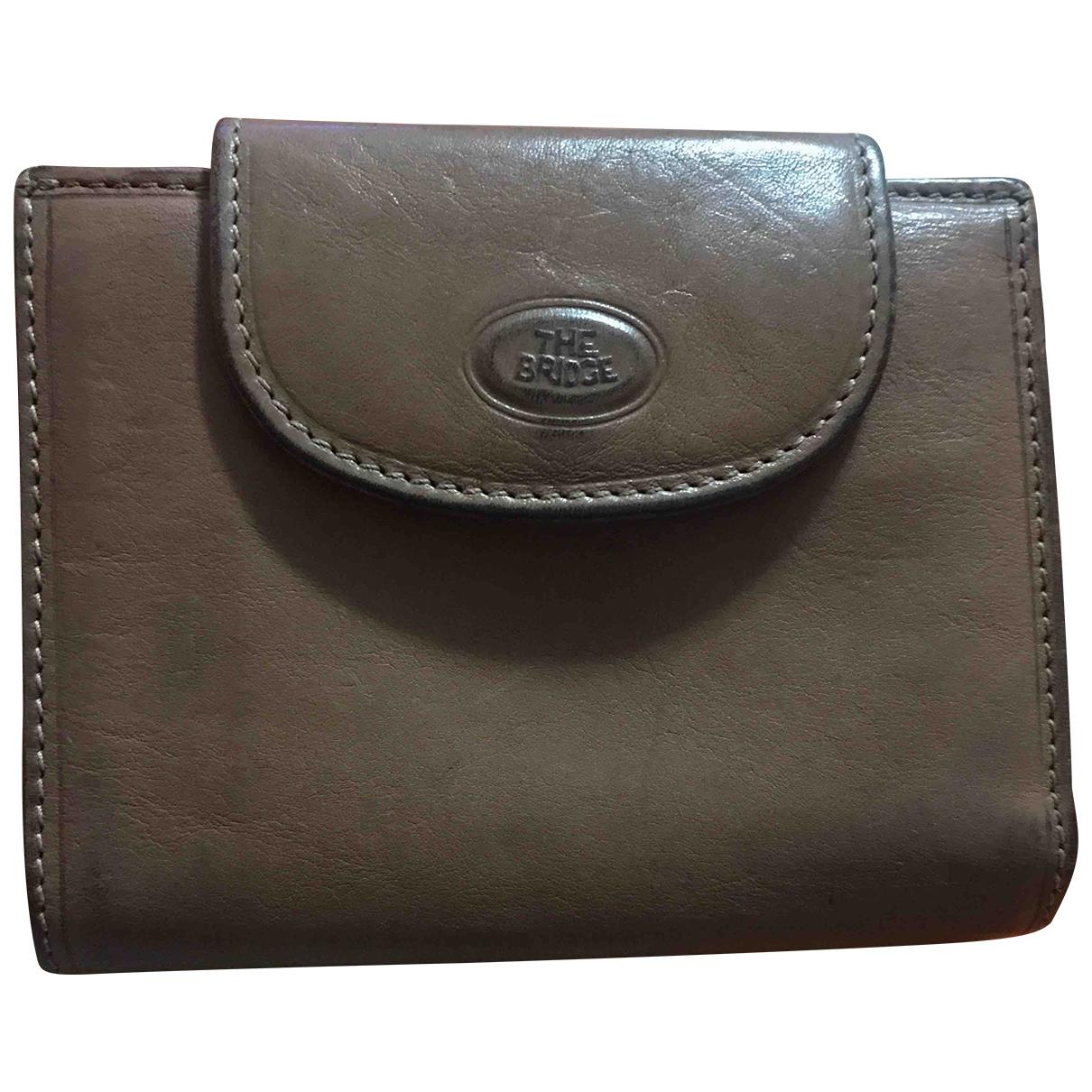 - Portefeuille   pour femme en cuir - beige