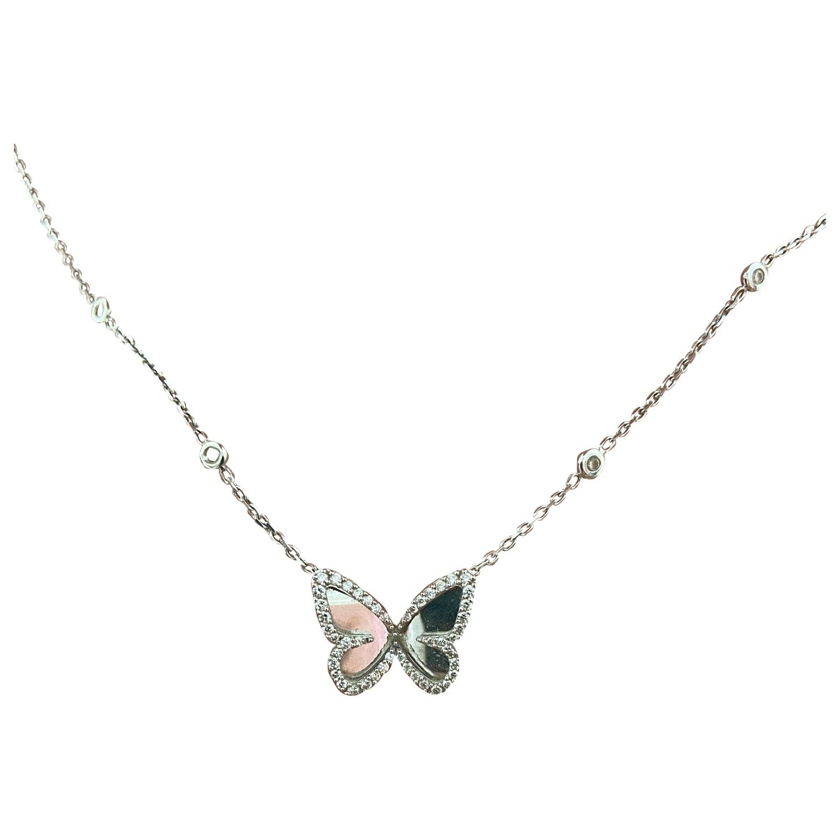 Messika - Collier Butterfly pour femme en or blanc - argente