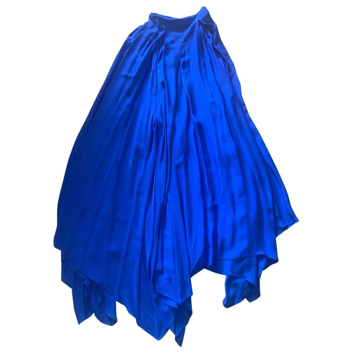 Antonio Berardi - Jupe   pour femme en soie - bleu