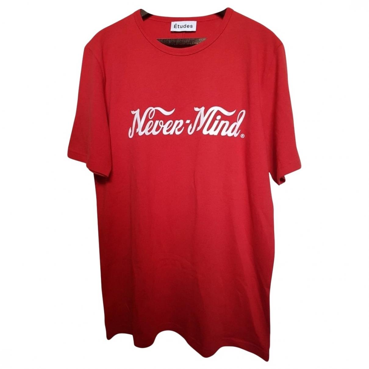 Etudes Studio - Tee shirts   pour homme en coton - rouge