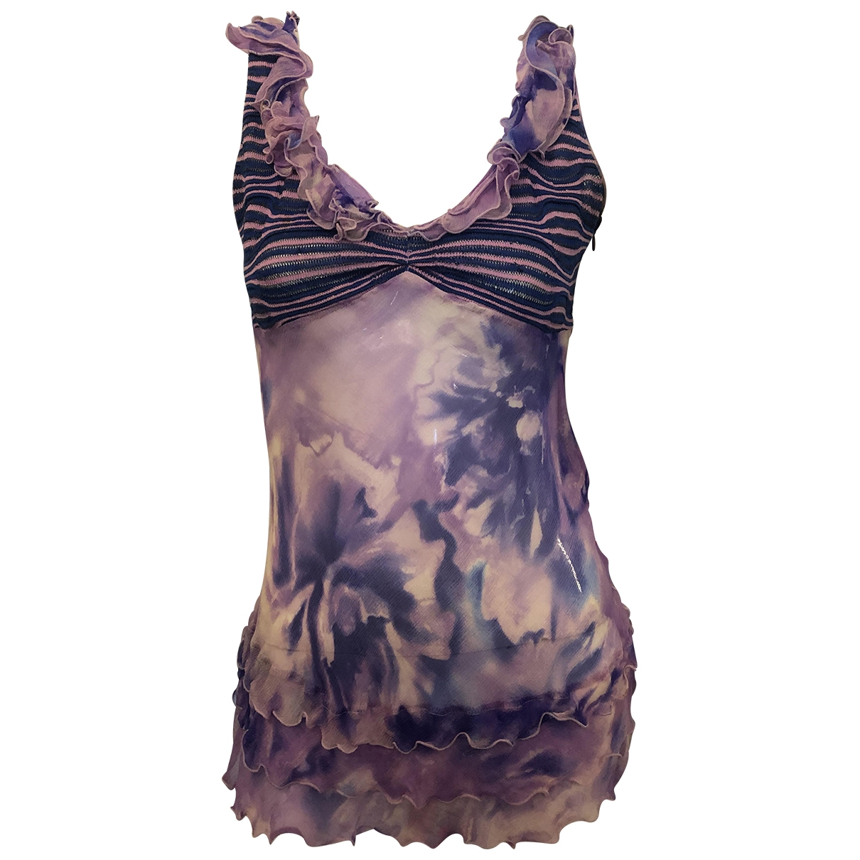 Ungaro Parallele \N Purple Silk  top for Women 42 IT