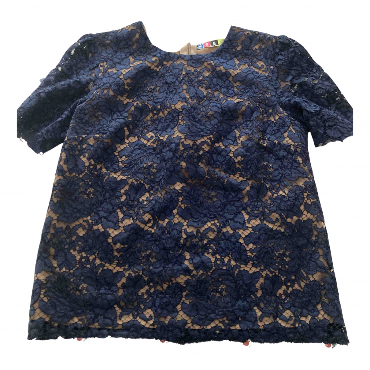 Msgm N Blue Cotton  top for Women 44 IT