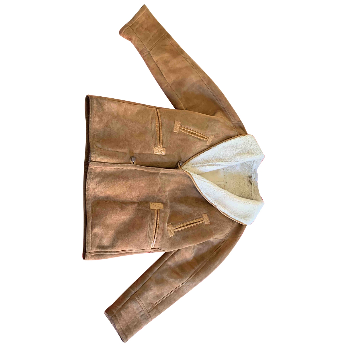 Shearling - Manteau   pour homme en mouton - marron