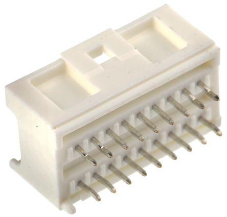 Molex , MicroClasp, 55917, 18 Way, 2 Row, Straight PCB Header (10)
