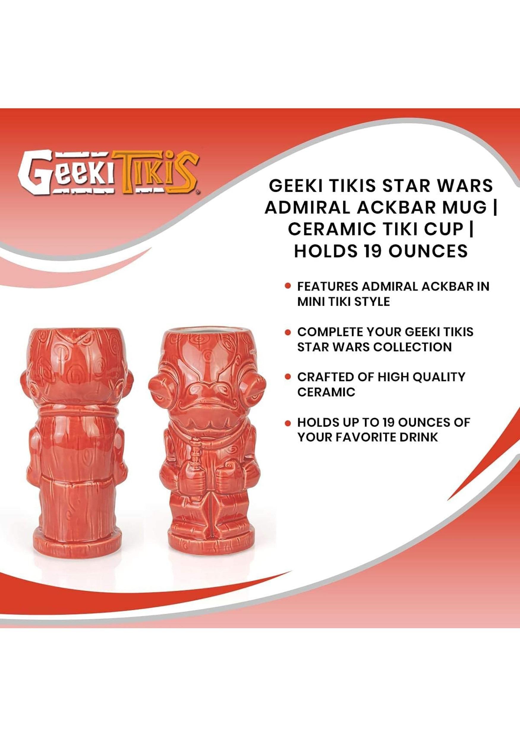 Admiral Ackbar Geeki Tiki Mug