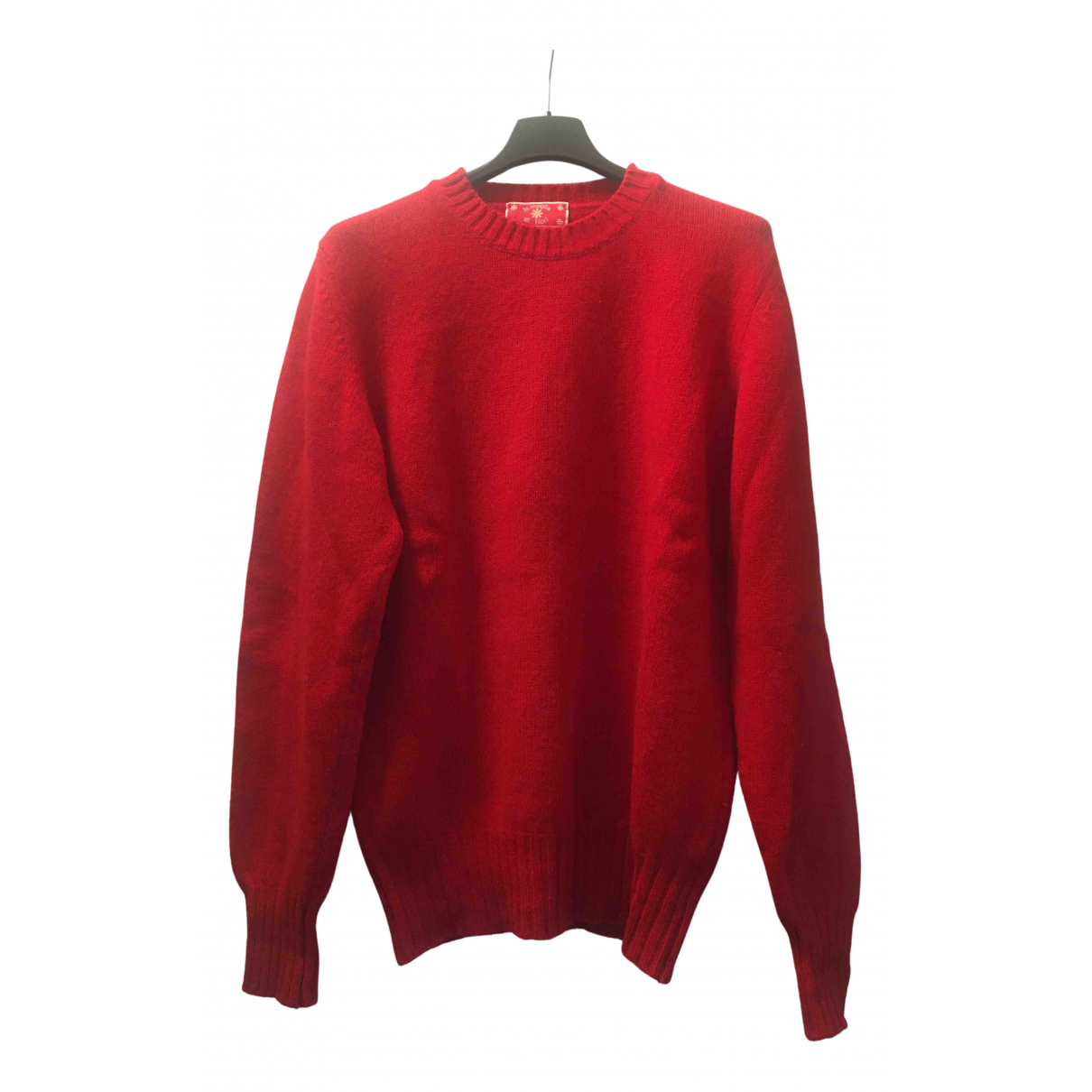 Non Signé / Unsigned N Red Wool Knitwear for Women 42 IT