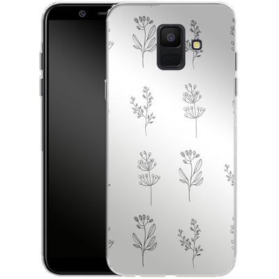 Samsung Galaxy A6 Silikon Handyhuelle - Botanic Studies von Lucy Bohr