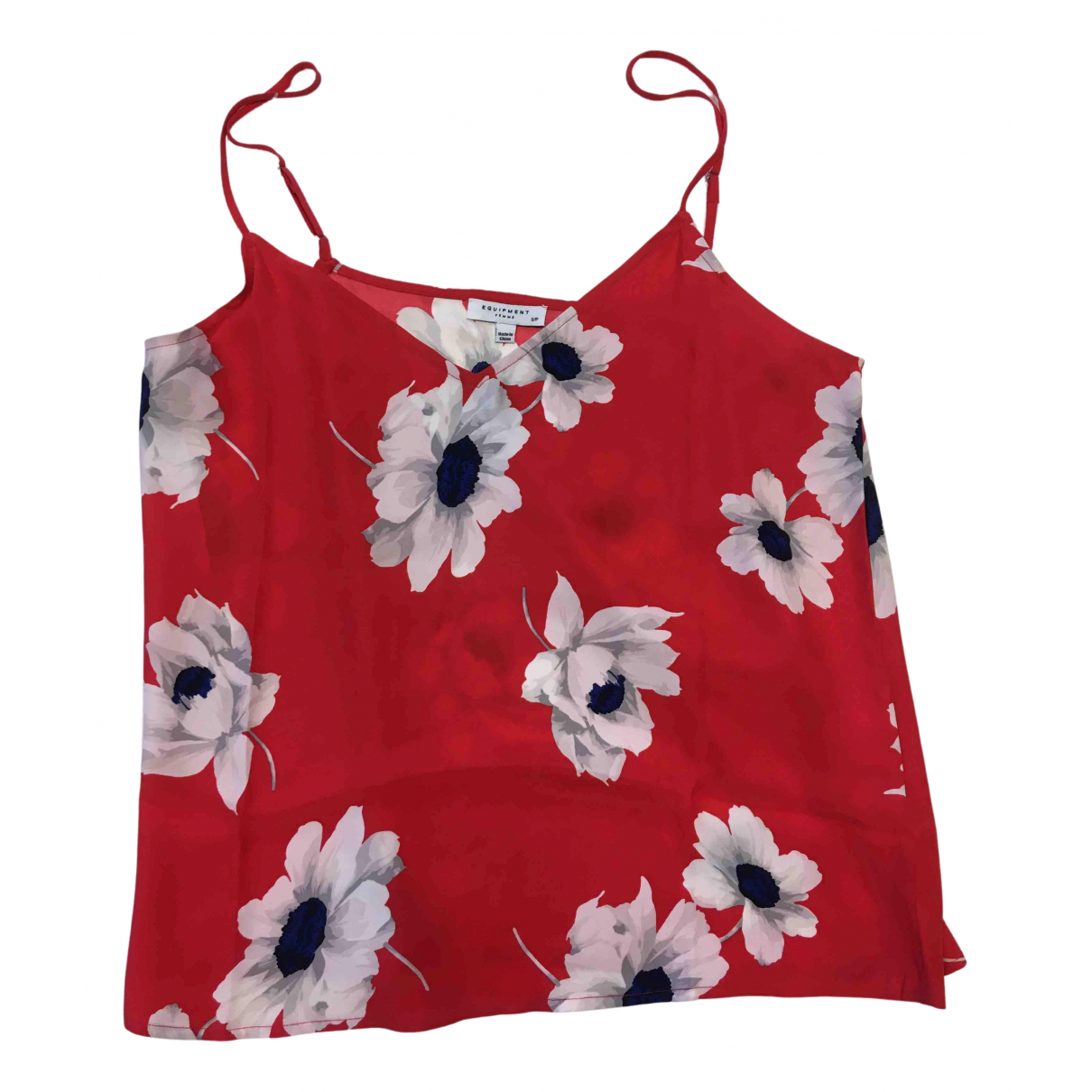 Equipment \N Red Silk  top for Women S International
