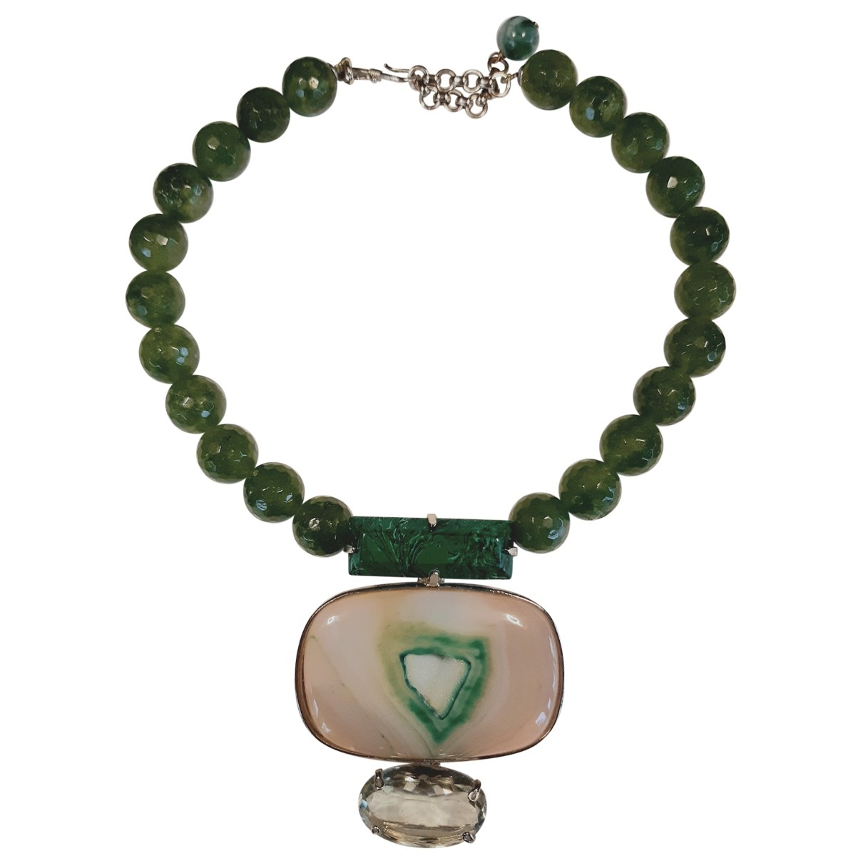 Philippe Ferrandis - Collier   pour femme en jade - vert